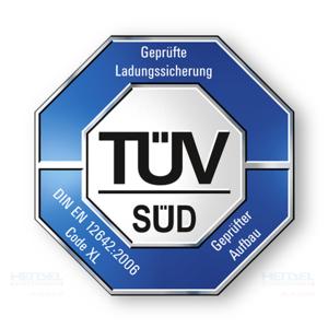 HENSEL Fahrzeugbau Ladungssicherungssystem - von TÜV SÜD getestet.